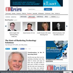 The State of Marketing Technology Solutions
