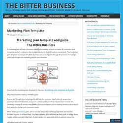 Marketing Plan Template – The Bitter Business