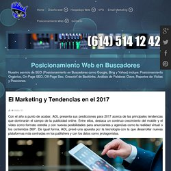 El Marketing y Tendencias en el 2017 - DISEÑO WEB