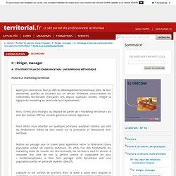 Fiche 6 Le marketing territorial - Le dircom