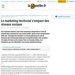 Le marketing territorial s'empare des réseaux sociaux