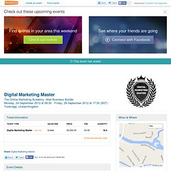 Digital Marketing Master - Eventbrite