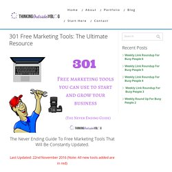 Free Marketing Tools: Every Tool You Will Need For Business