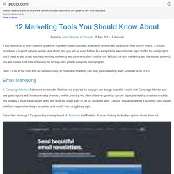 12 Marketing Tools You Should Know About - Podio Blog