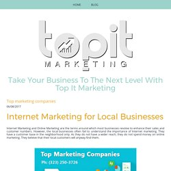 Top marketing companies - topitmarketingagency
