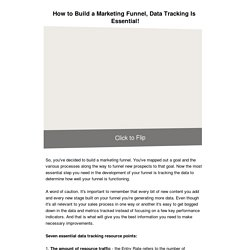 How to Build a Marketing Funnel, Data Tracking Is Essential!
