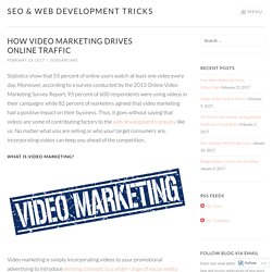 How Video Marketing Drives Online Traffic
