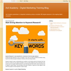 Start Giving Attention to Keyword Research!