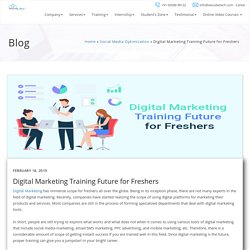 Digital Marketing Training Future for Freshers