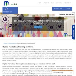 1800-1230-133 Digital Marketing Training Classes Coaching And Institute