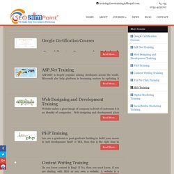 Training Courses Offered by SEO AIM POINT