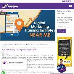 Digital Marketing Training Institutes Near Me