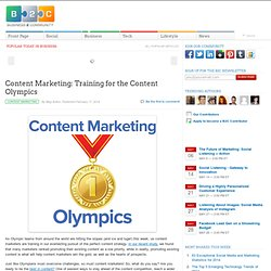 Content Marketing: Training for the Content Olympics