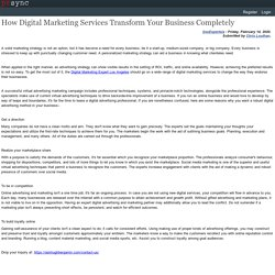 How Digital Marketing Services Transform Your Business Completely