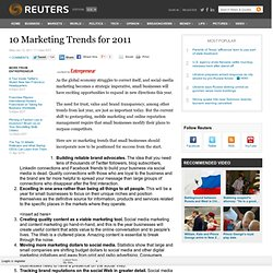 10 Marketing Trends for 2011