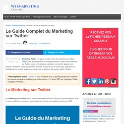 ▶ Marketing sur Twitter