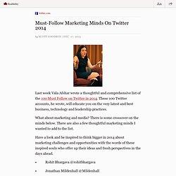 Must Follow Marketing Minds On Twitter 2014 — www.forbes