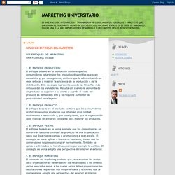 MARKETING UNIVERSITARIO: LOS CINCO ENFOQUES DEL MARKETING