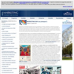MARKETING GAY (ou presque !) - Master Marketing - Université Paris Dauphine