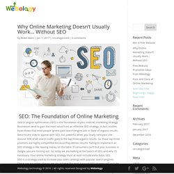 Why Online Marketing Doesn't Usually Work... Without SEO - webology