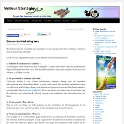 Erreurs du Marketing Web