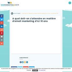 ▷ A quoi doit-on s'attendre en matière d'email marketing d'ici 10 ans