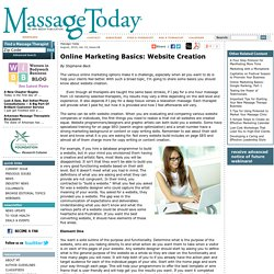 Online Marketing Basics: Website Creation