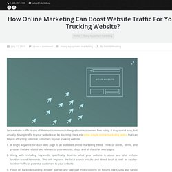 Online Marketing Campaign For Your Trucking Website