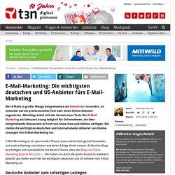 E-Mail-Marketing: Die wichtigsten deutschen und US-Anbieter fürs E-Mail-Marketing