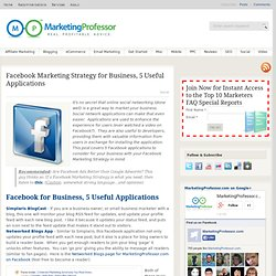 Facebook Marketing Strategy for Business, 5 Useful Applications