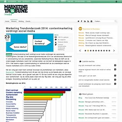 Marketing Trendonderzoek 2014: contentmarketing verdringt social media