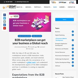 How B2B marketplace can get your business a Global reach
