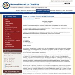 Design for Inclusion: Creating a New Marketplace: National Council on Disability