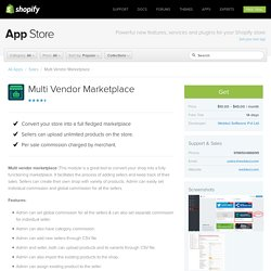 Multi Vendor Marketplace – Ecommerce Plugins for Online Stores – Shopify App Store