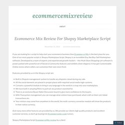 Ecommerce Mix Review For Shopsy Marketplace Script