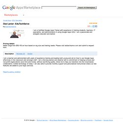 Apps Marketplace - Dee Lanier- EduTechServe