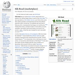 Silk Road (marketplace)