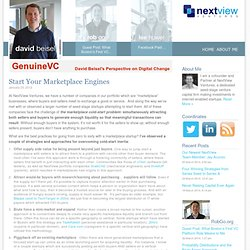 Start Your Marketplace Engines