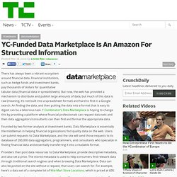 YC-Funded Data Marketplace Is An Amazon For Structured Informati