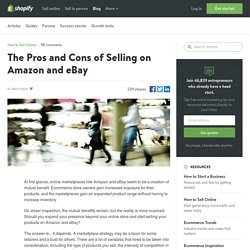 Selling on Amazon and eBay - The Pros and Cons - Marketplace Fees, Infrastructure, & Sales
