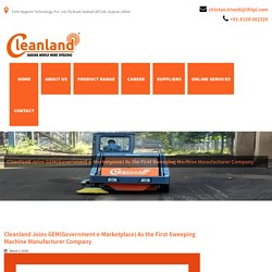 Cleanland Joins GEM(Government e-Marketplace) As the First Sweeping Machine Manufacturer Company - Cleanland