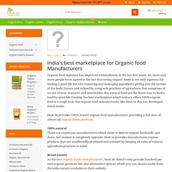 India's best marketplace for Organic food Manufacturers