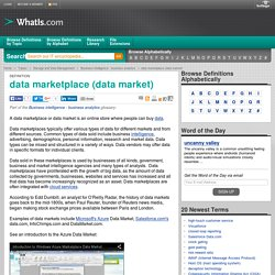 What is data marketplace (data market)? - Definition from WhatIs.com