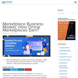 Marketplace Business Model: How Online Marketplaces Earn?