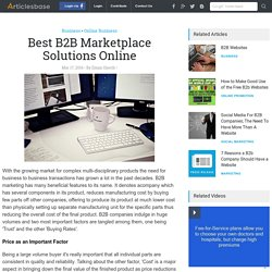 Best B2B Marketplace Solutions Online