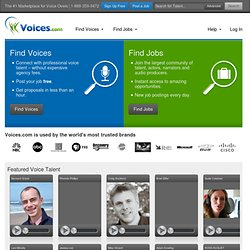 Voices.com | #1 Voice Over Marketplace for Voice Over Talent