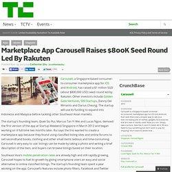 Marketplace App Carousell Raises $800K Seed Round Led By Rakuten