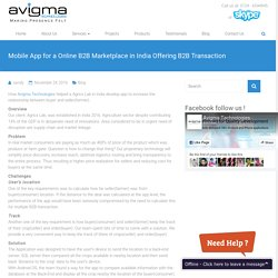 Mobile App For A Online B2B Marketplace In India Offering B2B Transaction