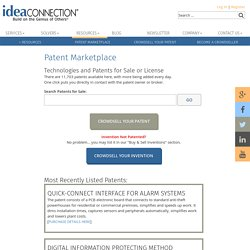 Patent Marketplace: Technology Patents for Sale or License