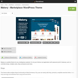 Makery - Marketplace WordPress Theme - WordPress